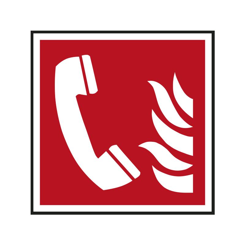 Brandschutzzeichen: Brandmeldetelefon
