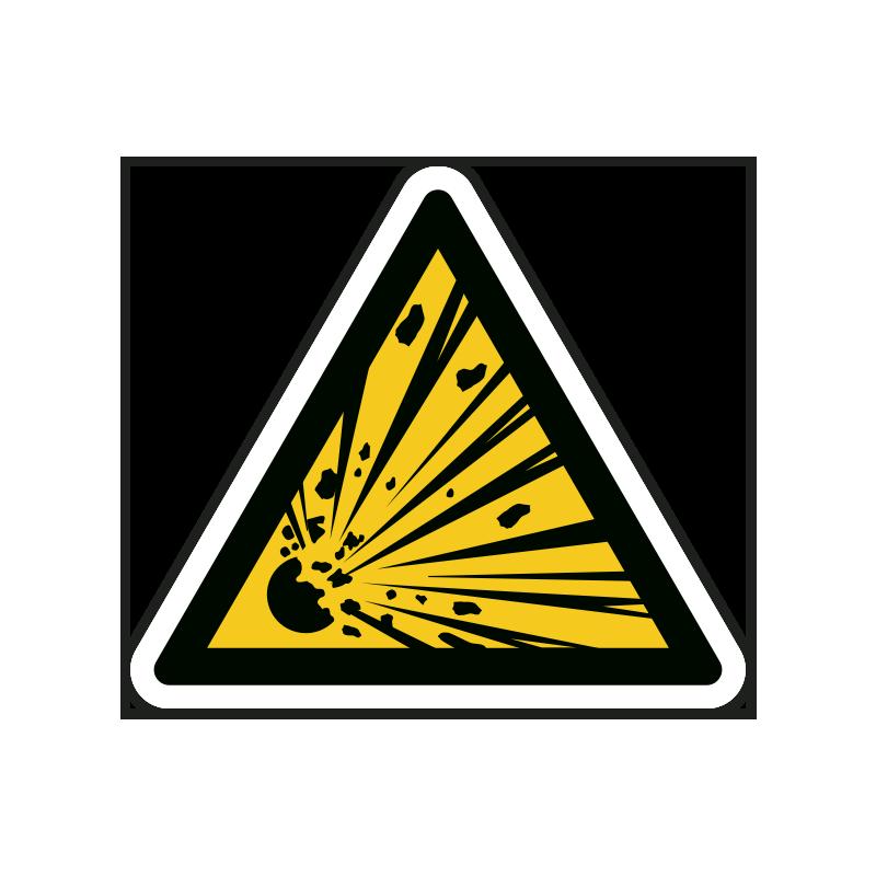 Warnzeichen: Explosionsgefahr